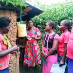 The Water Project: Mwituwa Community, Nanjira Spring -  Tippy Tap Installation Lessons