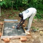 The Water Project: Mwituwa Community, Nanjira Spring -  Sanitation Platform Construction
