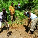 The Water Project: Mwituwa Community, Nanjira Spring -  Spring Protection Excavation