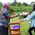 The Water Project: Mbande Community, Handa Spring -  Handwashing Training