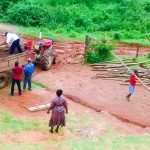The Water Project: Mwanzo Primary School -  Carrying Dirt To The Construction Site