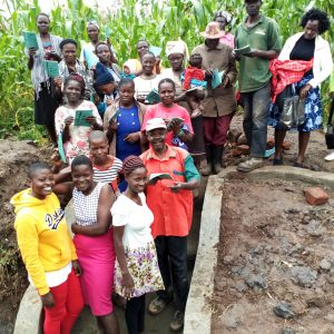 The Water Project:  Training Group Pictures At The Spring
