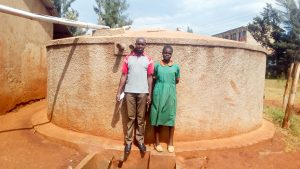 The Water Project:  Mercy Owela Beside Wewasafo Staff