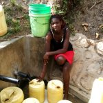 The Water Project: Shitungu Community, Hessein Spring -  Abigael Ayuma