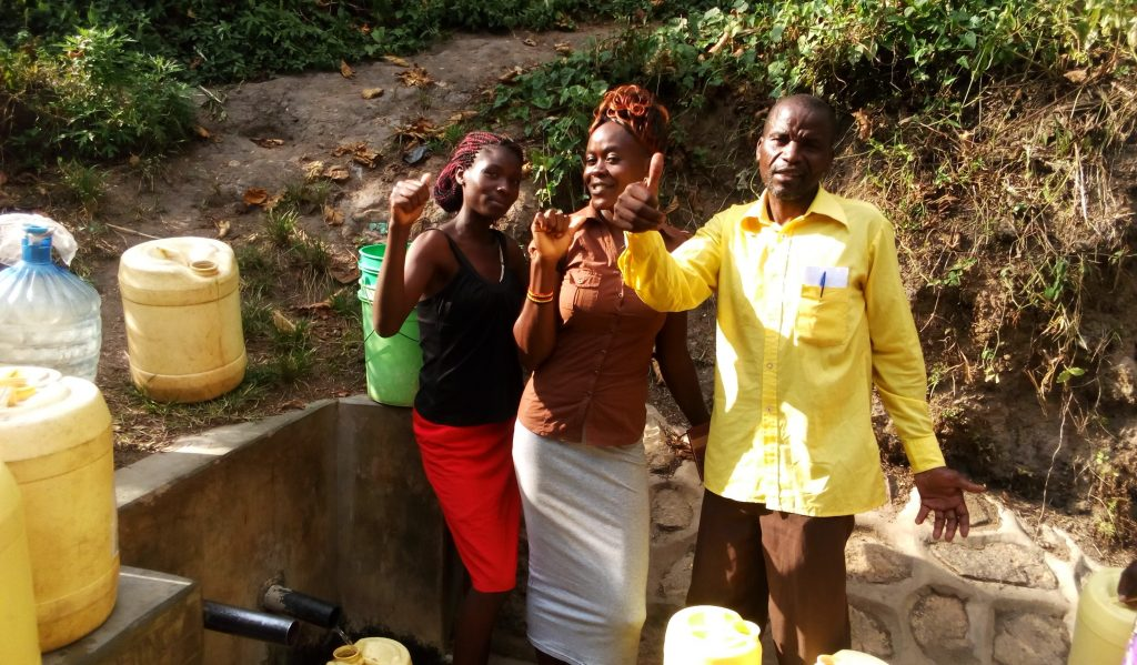 The Water Project : kenya4698-thumbs-up-for-clean-water