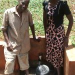 The Water Project: Kidinye Community A -  Clean Water Flowing