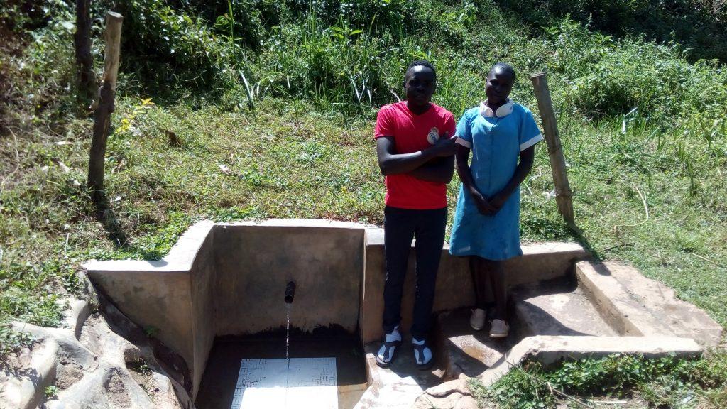 The Water Project : kenya4704-patrick-masambaga-and-faith-khasoa