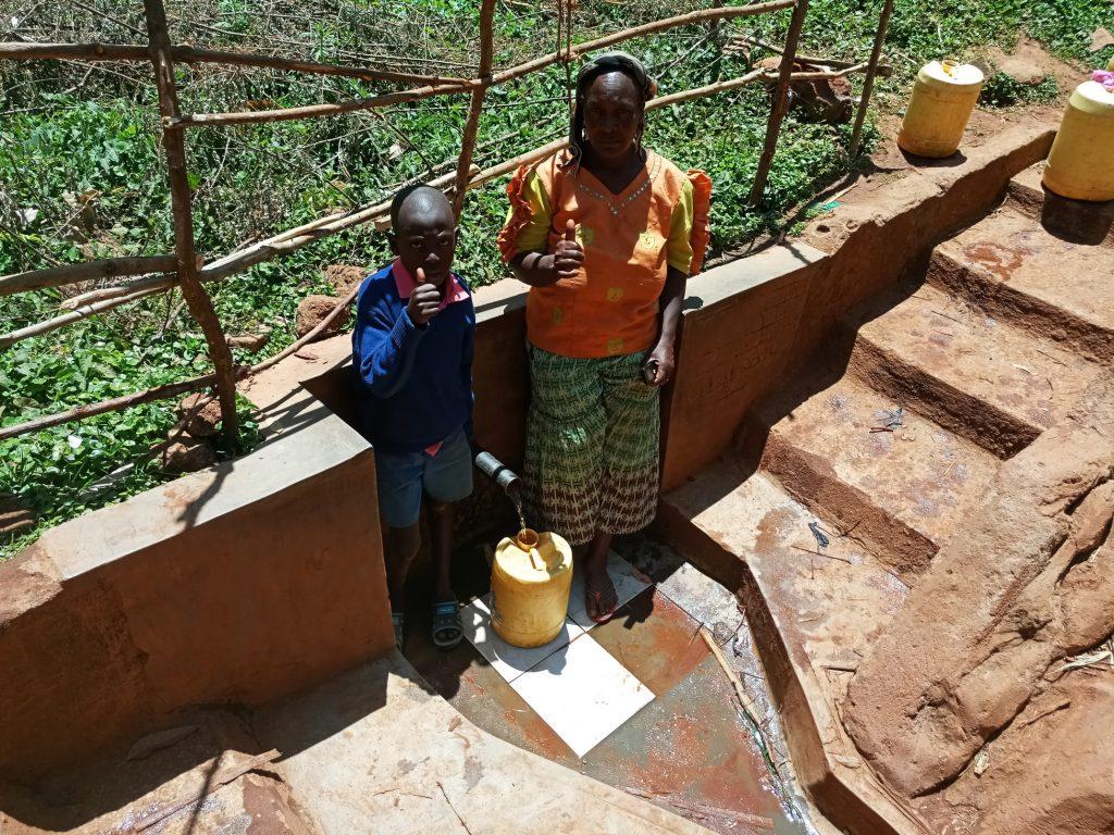 The Water Project : kenya4706-erick-mwalunga-and-florence-chelegat