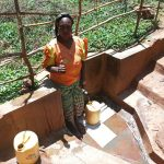 The Water Project: Mutambi Community, Kivumbi Spring -  Madam Florence Chelagat
