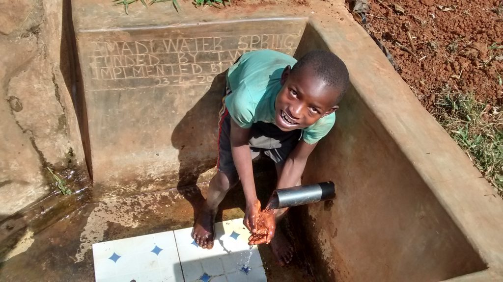 The Water Project : kenya4710-reliable-water-flowing
