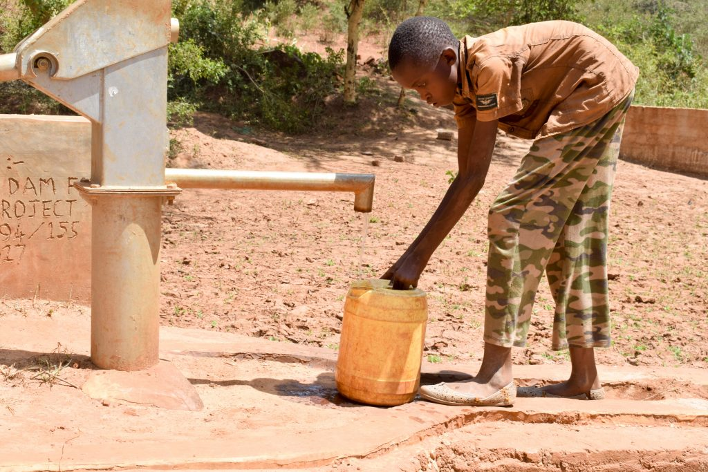 The Water Project : kenya4777-fetching-water-a-year-later