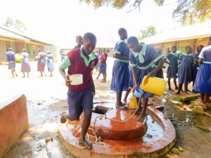 The Water Project:  Students Getting Water