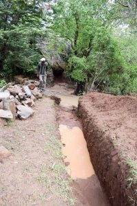The Water Project:  Sand Dam Trench