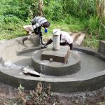 The Water Project: Elukho Community A -  Well Pad Construction