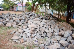 The Water Project:  Stones Carried To The School By Parents