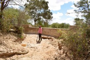 The Water Project:  Finished Sand Dam Construction
