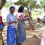 The Water Project: Kithumba Primary School -  Sifting Sand