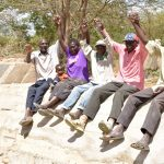 The Water Project: Kivani Community B -  Finished Sand Dam Construction