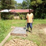 The Water Project: Irumbi Community, Okang'a Spring -  Sanitation Platform