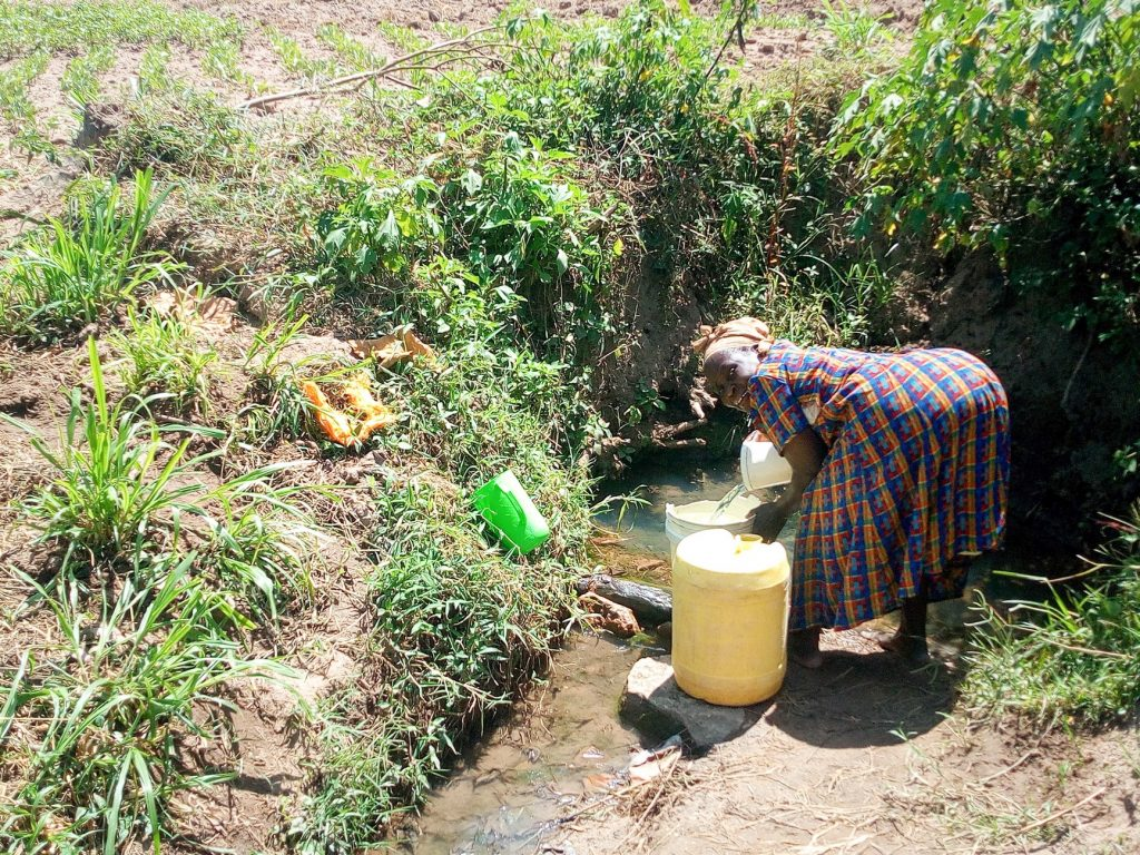 The Water Project : 2-kenya18148-unprotected-spring