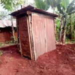 The Water Project: Irumbi Community, Okang'a Spring -  Superstructure Already Raised For The New Latrine
