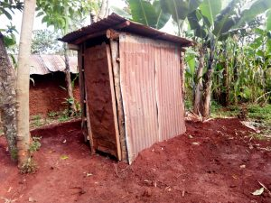 The Water Project:  Superstructure Already Raised For The New Latrine