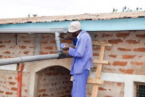 The Water Project:  Gutter System Construction