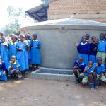 The Water Project: Emukangu Primary School, Shibuli -  Finished Tank