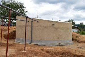 The Water Project:  Finished Tank And Gutters