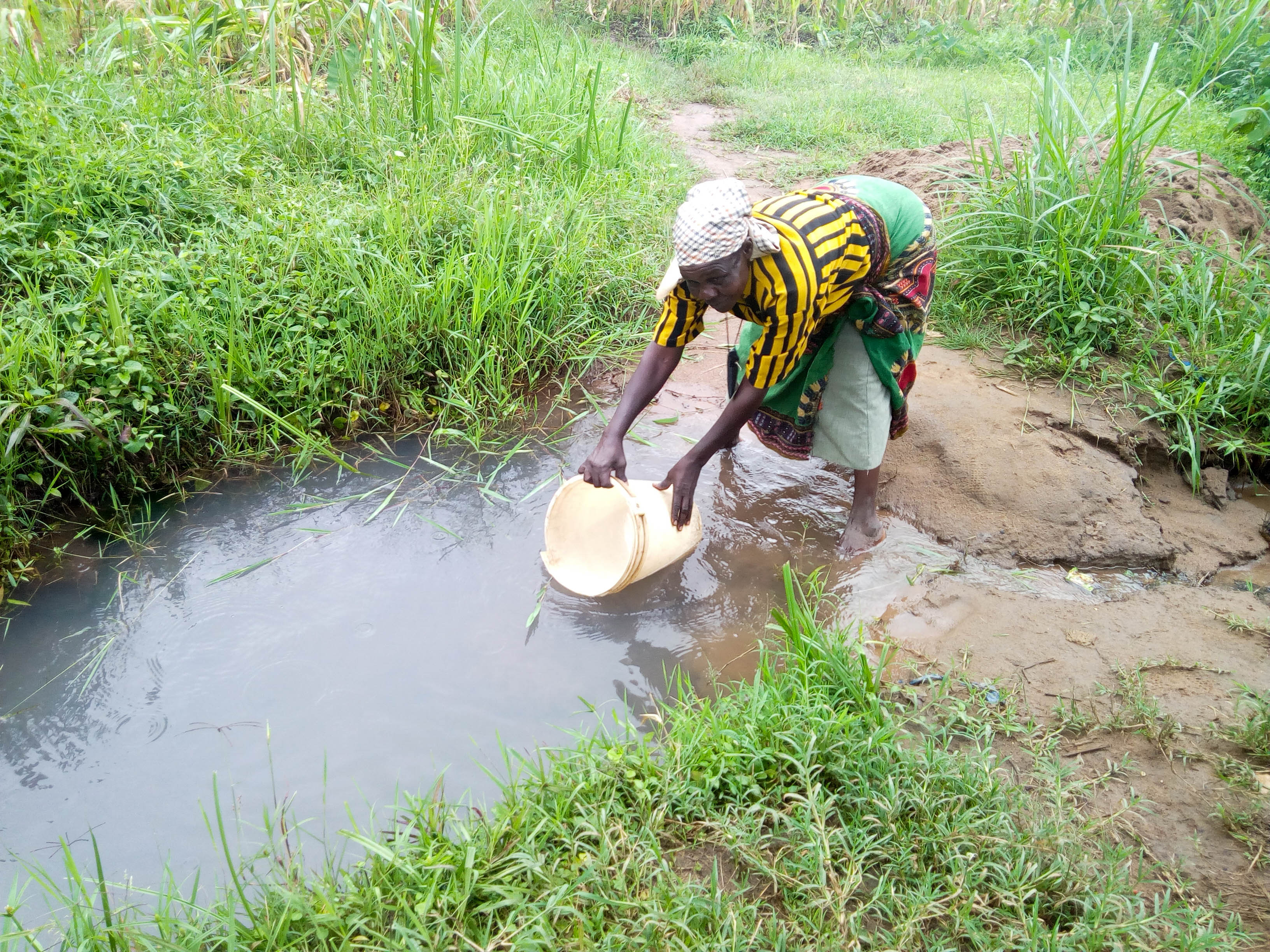 The Water Project : 5-kenya18312-fetching-water