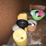 The Water Project: Mungakha Community, Nyanje Spring -  Water Storage In Kitchen