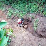 The Water Project: Irumbi Community, Okang'a Spring -  Spring Excavation