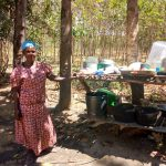 The Water Project: Ivinzo Commuity, Mushianda Spring -  A Well Built Dish Rack