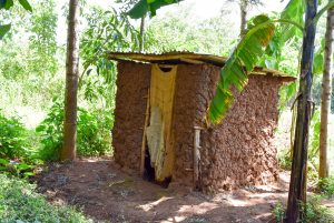 The Water Project:  Mud Latrine
