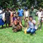 The Water Project: Mukhangu Community, Okumu Spring -  Handwahsing Training