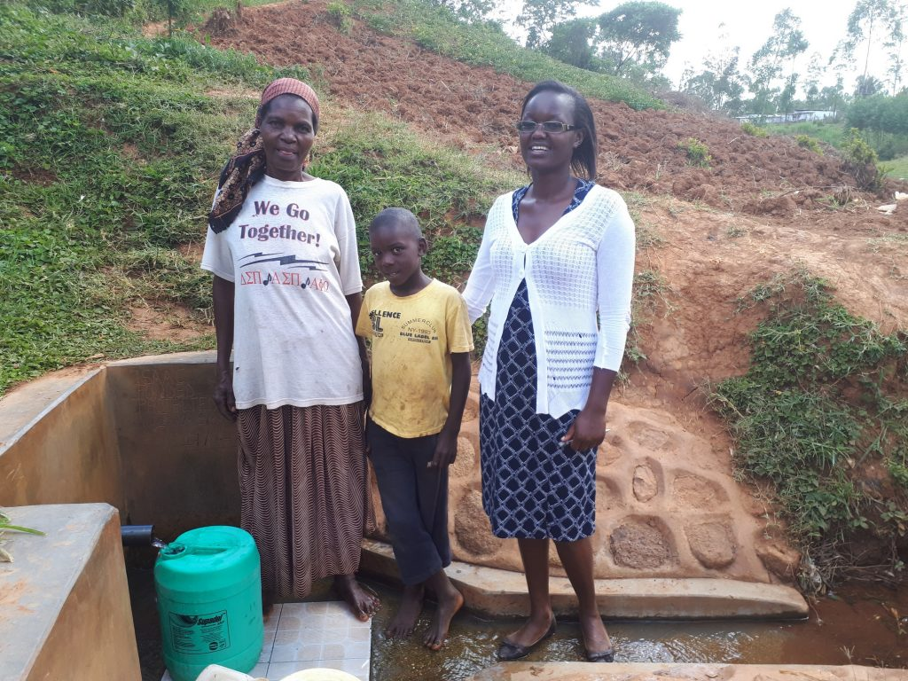 The Water Project : kenya4711-phanice-isaac-and-alvin-shiakachi