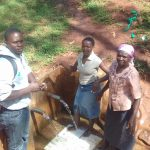 The Water Project: Visiru Community, Kitinga Spring -  Irene Jepnyango And Florence Makungu
