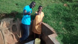 The Water Project:  Pauline Esendi Gives Thumbs Up For Clean Water