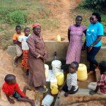 The Water Project: Futsi Fuvili Community, Futsi Fuvili Spring -  Gathered At The Spring