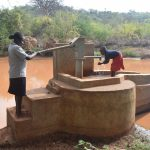 The Water Project: Maluvyu Community -  Water Flowing