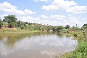 The Water Project:  Water Collects Thanks To The Dam