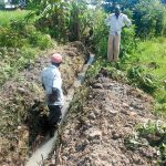 The Water Project: Matsakha Community, Siseche Spring -  Digging Drainage