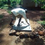 The Water Project: Shirakala Community -  Finishing Touches On Sanitation Platform