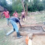 The Water Project: Ematetie Community, Weku Spring -  Sanitation Platform Construction