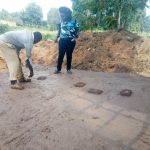 The Water Project: Shiru Primary School -  Checking The Latrine Foundation