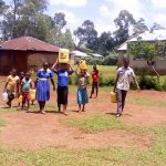 The Water Project: Eshilibo Primary School -  Bringing Water For Construction