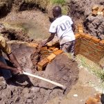 The Water Project: Chebwayi B Community, Wambutsi Spring -  Construction