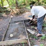 The Water Project: Muyundi Community A -  Sanitation Platform Construction