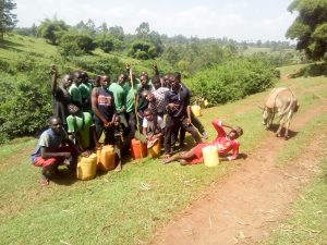 The Water Project:  Boarding Students Fetching Water On The Weekend