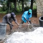 The Water Project: Makuchi Primary School -  Mixing Cement